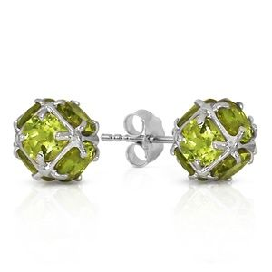 14K. SOLID GOLD STUD EARRINGS WITH NATURAL PERIDOT